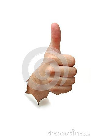 Free Hand Success Sign Royalty Free Stock Photo - 3000015