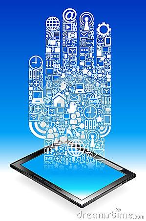 Hand  tablet Communication