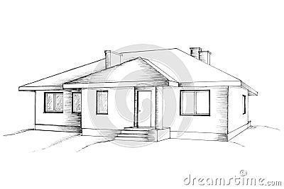 Hand tekening van het huis stock foto 39 s afbeelding 13183413 for Draw your house