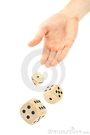Free Hand Throwing Dice Stock Photos - 17501253