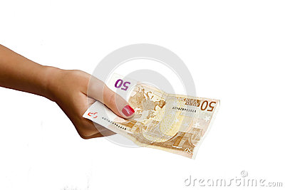 Hand With Ticket Stock Photo - Image: 26820740