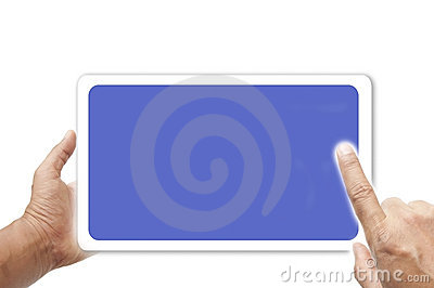 Hand and touch screen