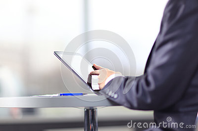 Hand touching on modern
