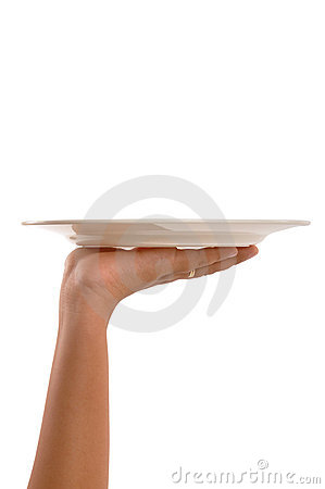 Hand with tray