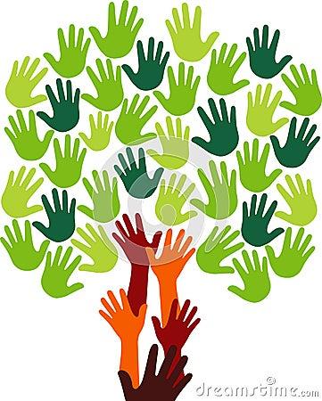Free Hand Tree Logo Stock Image - 28788181