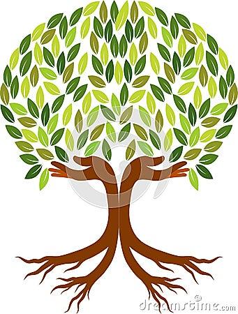 Free Hand Tree Logo Stock Photo - 43704990