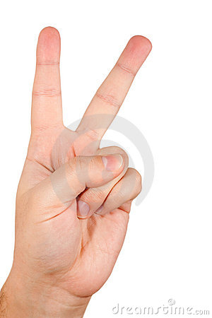 Hand with two fingers