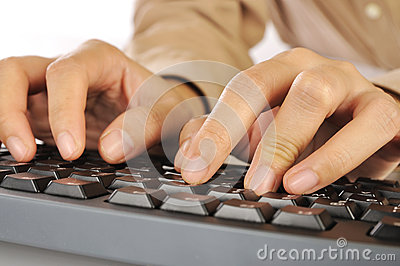 Hand Typing Keyboard
