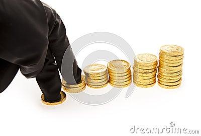 Hand und Münzen