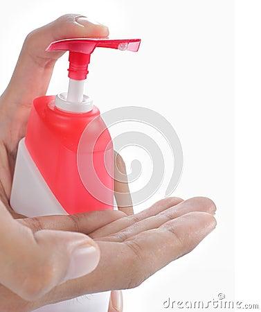 Free Hand Using Hand Sanitizer Royalty Free Stock Photo - 18935905