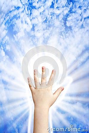 Hand van hemel