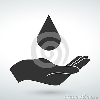Hand vector icon isolad vector on a white backround Stock Photo