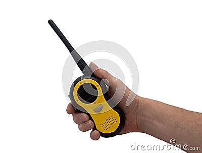 Hand & walkie talkie