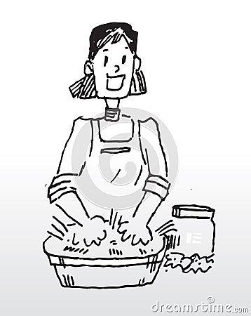 Hand washing cloth