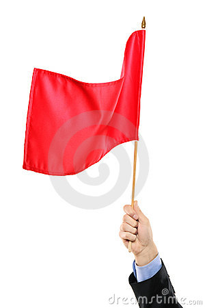 Free Hand Waving A Red Flag Royalty Free Stock Photo - 16843865