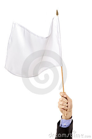 Hand waving a white flag