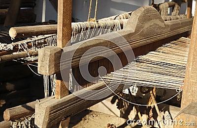 Hand Weaving loom detail