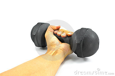 Hand and weight