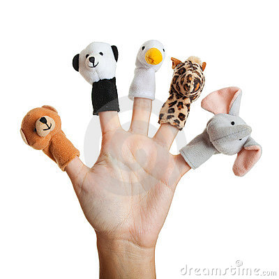 Free Hand With Animal Puppets Stock Photo - 12022130