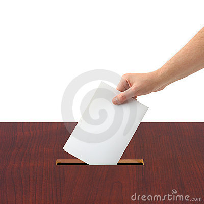 Free Hand With Ballot And Box Royalty Free Stock Images - 6567109