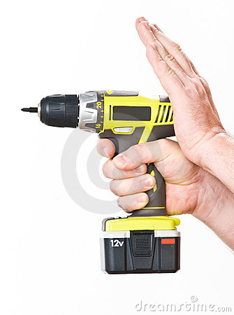 Free Hand With Battery Screwdriver Stock Photo - 21723120