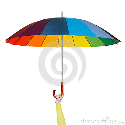 Free Hand With Colorful Umbrella Stock Photos - 52175013