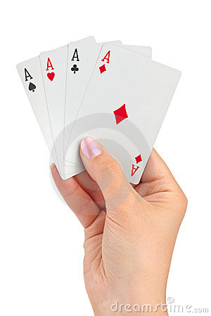 Free Hand With Four Aces Royalty Free Stock Photography - 15058977
