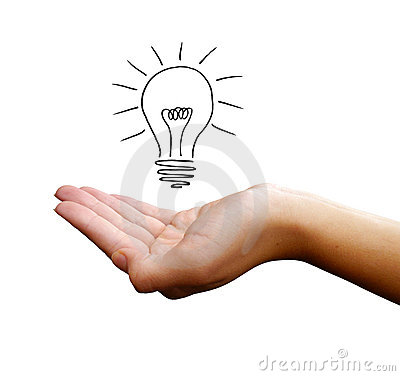 Free Hand With Light Bulb Royalty Free Stock Photo - 20115865