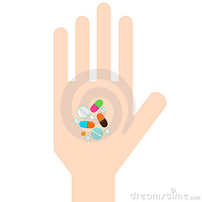 Free Hand With Pills Royalty Free Stock Photo - 12545135