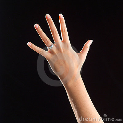 Free Hand With Ring Royalty Free Stock Photo - 4959295