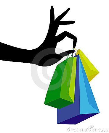 Free Hand With Shopping Bag Stock Image - 18313001