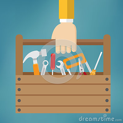 Free Hand With Toolbox. Royalty Free Stock Photo - 77816565
