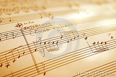 Hand witten music sheet