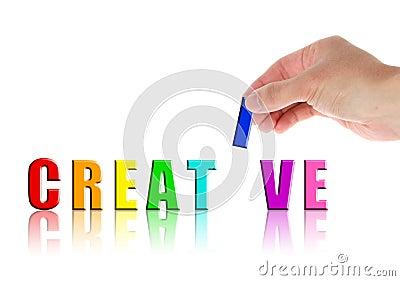 Hand and word Creative