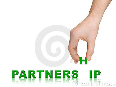 Hand and word Partnership