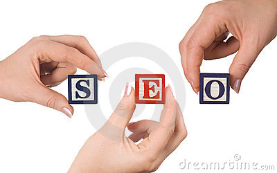 Hand and word SEO