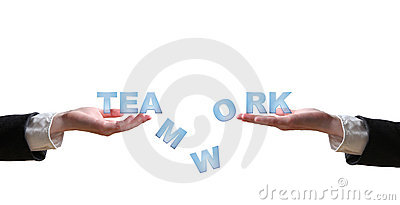 Hand and word Teamwork