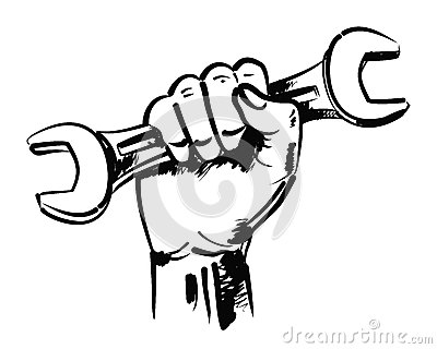 Box Wrench Clip Art Hand And Wrench...