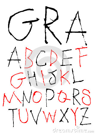 Hand writing childish font