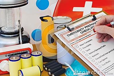 Hand Writing Emergency Preparation Equipment List