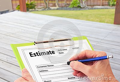 Hand Writing an Estimate for Deck Renovation
