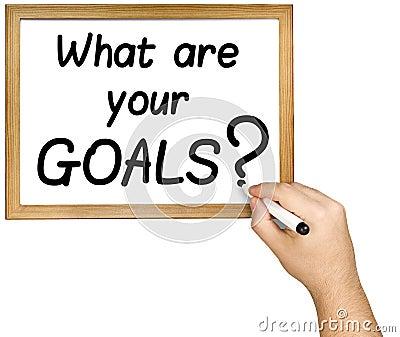 Hand Writing Goals Question Marker Whiteboard