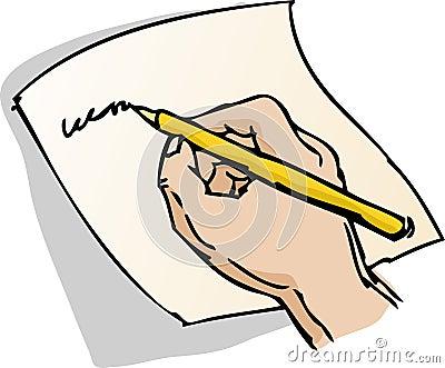 Hand Writing Illustration Stock Images - Image: 3368634