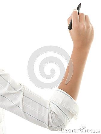 Free Hand Writing Isolated On White Royalty Free Stock Image - 13841026