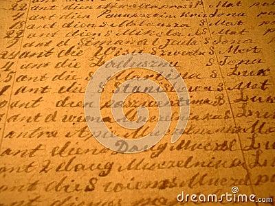 Hand-written