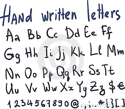 Hand written letters in vector