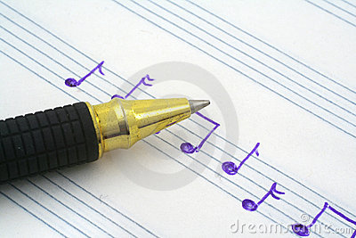 Hand written music note