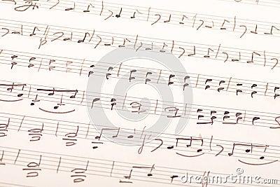Hand-written music score