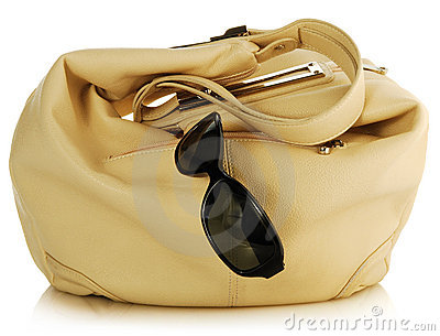 Handbag and antisun glasses