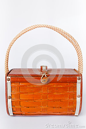 Handbag made ​​of wood